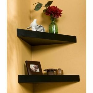 1 piece Wooden floating Corner shelf